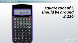 how to evaluate roots with a scientific calculator
