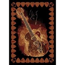 awesome area rug for home floor decoration remarkable black brown guitar area rug