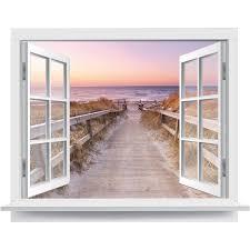 Premiumdesign Wandtattoo Offenes Fenster Heimischer Strandausblick