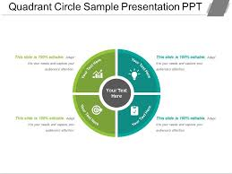 Quadrant Circle Sample Presentation Ppt Powerpoint