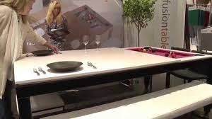 Dining Table Pool Tables Convertible Fusion Tables Combination Pool And Dining Table Icff 2015 Youtube