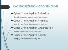 cyber crime  6 categorization of cyber