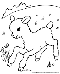 Small Picture Farm Animal Coloring Pages Printable Sheep Coloring Page and