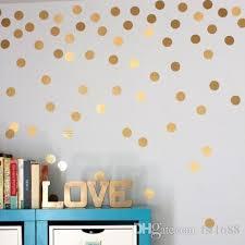 4038 gold polka dots wall sticker baby