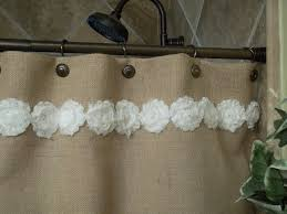 burlap shower curtain shabby white flower by simplyfrenchmarket 69 00