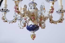 italian capo di monte chandelier for