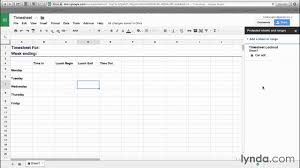 Using Google Sheets To Make Templates Productivity Lynda Com