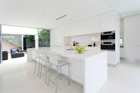 Brilliant Modern White Kitchen Island Allwhite With Large Long Bar In Design Ideas