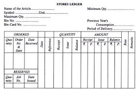 Inventory Stock Taking Records And Forms Used With Specimen