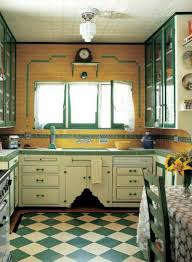Art Deco Kitchen Art Deco Kitchen With Green Countertops Creating The Elegant Art