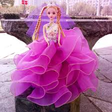 2015 Hot Pink Wedding Dresses Barbie Doll Birthday Party Gifts One