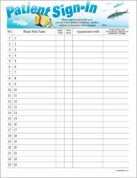 Dr Office Sign In Sheet Template Johnnecrewpulseco 213296611257