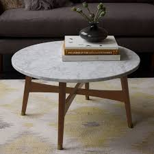 white marble coffee table inside reeve mid century west elm inspirations 5