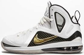 lebron 9 elite. nike lebron 9 elite home white black gold 516958-100 (2) lebron r