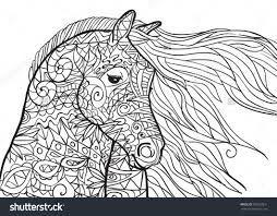 Horse Coloring Sheets With Printable Also Realistic Race Pages