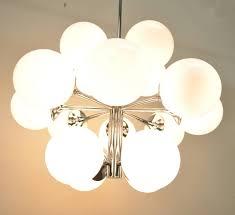 mid century modern lightolier atomic chrome and glass sputnik style chandelier for 3