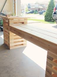 diy planter bench cedar boards contemporary