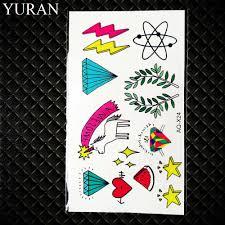 акварель гаджет временные татуировки русалка морская звезда тату стикер Galaxy Whale