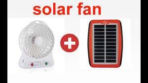 D Light Fan Charge Your Mini Portable Fan From Small Solar Panel