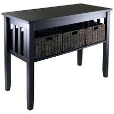 black sofa table with drawers sofa table with storage console table and baskets black sofa tables