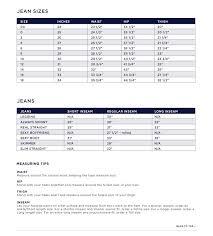 Gap Pants Size Chart World Of Menu And Chart Within Gap