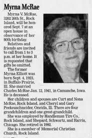 Myrna (Elliott) McRae obituary - Newspapers.com