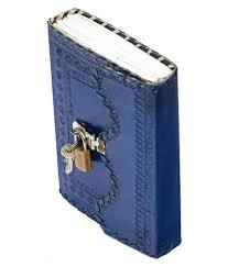 pranjals house navy blue office leather personal lock journal diary notebook key diary at best in india snapdeal