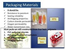 Modified Atmosphere Packaging In Vegetables