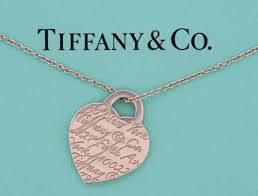 tiffany co sterling silver las necklace with engraved heart pendant usa circa