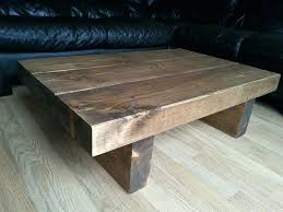 chunky wood coffee table chunky rustic reclaimed style coffee table handmade solid wood medium oak large