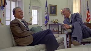 lbjs office president. Billy Graham And President Lyndon B. Johnson Share A Laugh While Meeting In The Oval Office. (Photo Credit: LBJ Library Photo By Yoichi Okamoto. Sept. Lbjs Office H