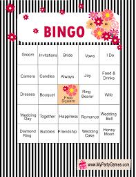 Wedding Bingo Words Free Printable Bridal Shower Bingo Game Cards