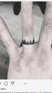 Not A Wedding Band But Around Right Ring Finger Tattoos