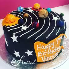 Space Birthday Cake Designs Online Cake Decorating Solar System Cake Cake Space Cupcakes