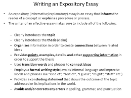 aim what is expository informative explanatory writing how is  writing an expository essay an expository informative explanatory essay is an essay that