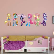 my little pony equestria girls awesome projects my little pony wall decals