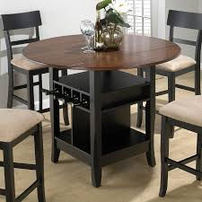 table with leaf of wonderful outdoor and indoor bar height dining counter height round kitchen table