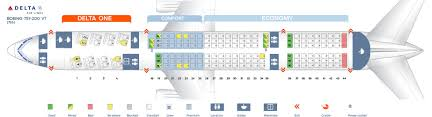 Seat Map Boeing 757 200 Delta Airlines Best Seats In Plane