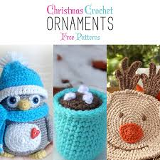 Free Christmas Crochet Patterns Delectable Christmas Crochet Ornaments With Free Patterns The Cottage Market