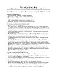 Bunch Ideas Of Cover Letter For Food Service Director Job With