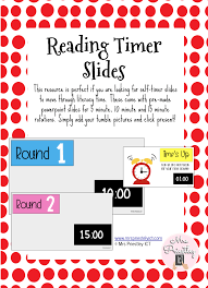 5 Minute Powerpoint Timer Reading Timer Slides
