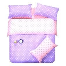 um image for purple pink dots bedding set polka dot full queen size double doona quilt