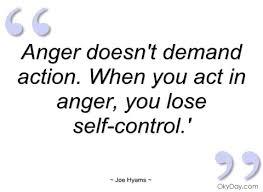 Self Control Quotes Adorable Anger Doesn't Demand Action When You Act In Anger You Lose Self Control