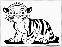 Draw Tiger Color Pages On Photography Desktop Fantastic Kids