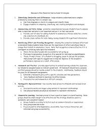Marzano S Nine Essential Instructional Strategies