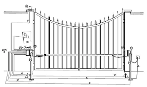 kit myhook automated electric double swing gate opening kit simply installation these diagrams show the gates