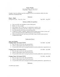 Resume Examples College Student College Student Resume Objective Basic Resume Examples For College 57