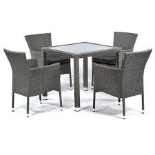 oasis glass table and 4 stacking chairs