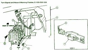 ford e van hazard warning flasher fuse box diagram circuit 92 ford e250 van hazard warning flasher fuse box diagram