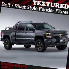 Pocket-Riveted Textured Fender Flares For 2007-2014 Chevy ...